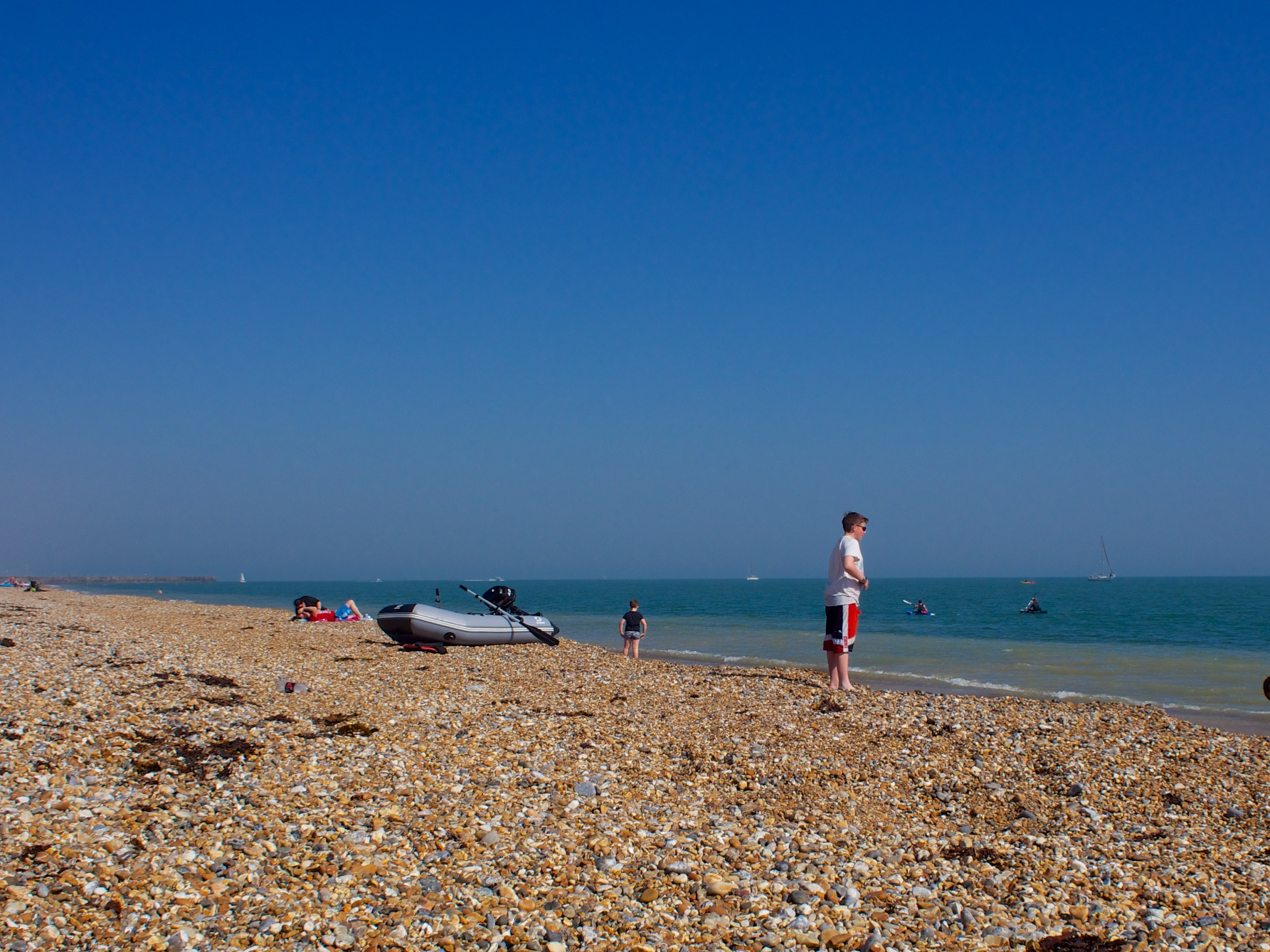 The beach comes to life in Shoreham by Sea